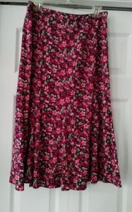 Christopher & Banks Floral Print Skirt Size 10
